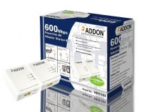 Addon HP6100 AV600 Powerline Adapter Starter Kit - Twin Pack - 600Mbps Homeplug AV - UK Plug